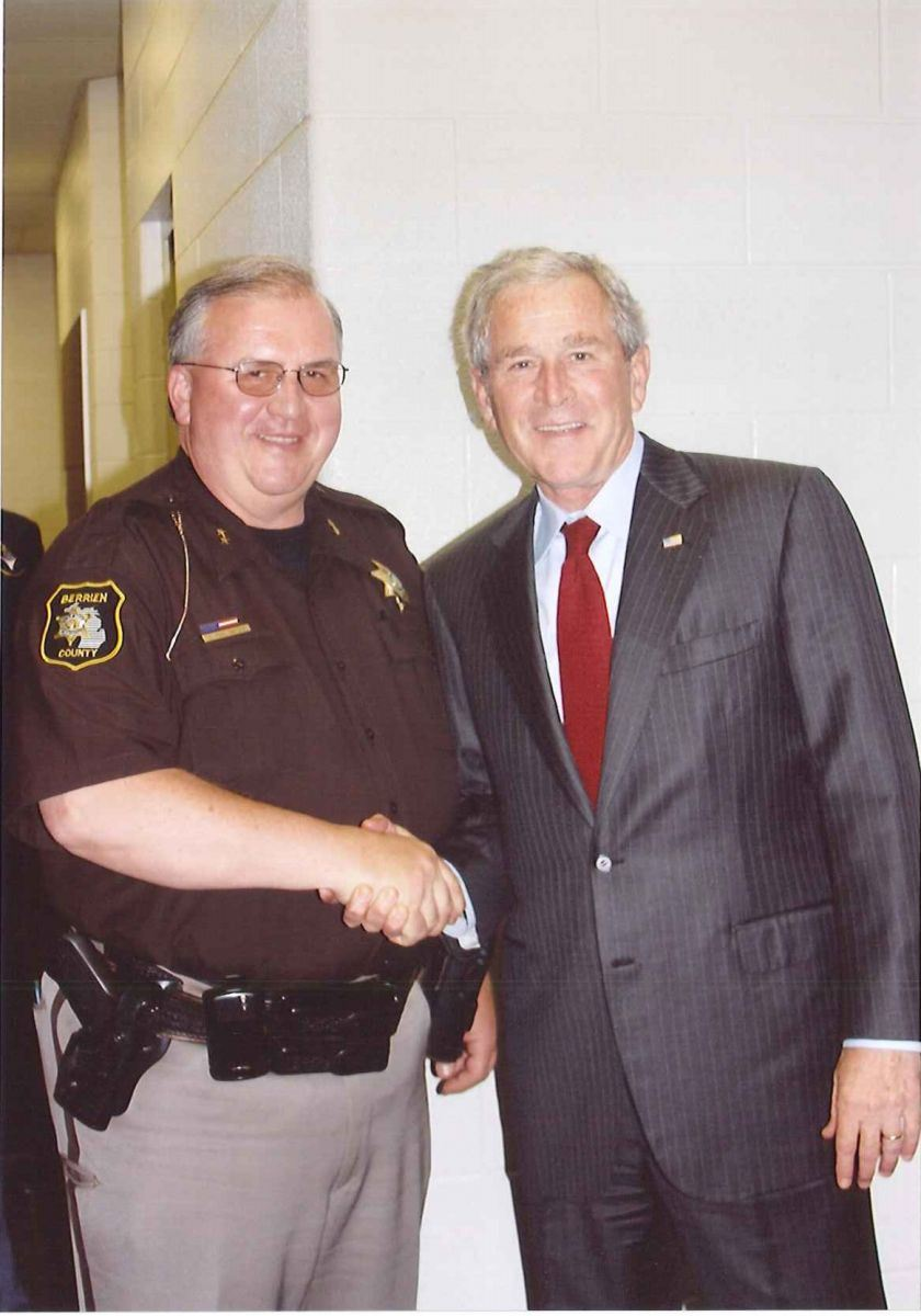 Sheriff Paul Bailey and President George W. Bush