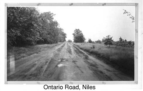 Black and white image of Ontario Road