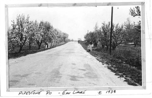Black and White Image of Pipestone Road