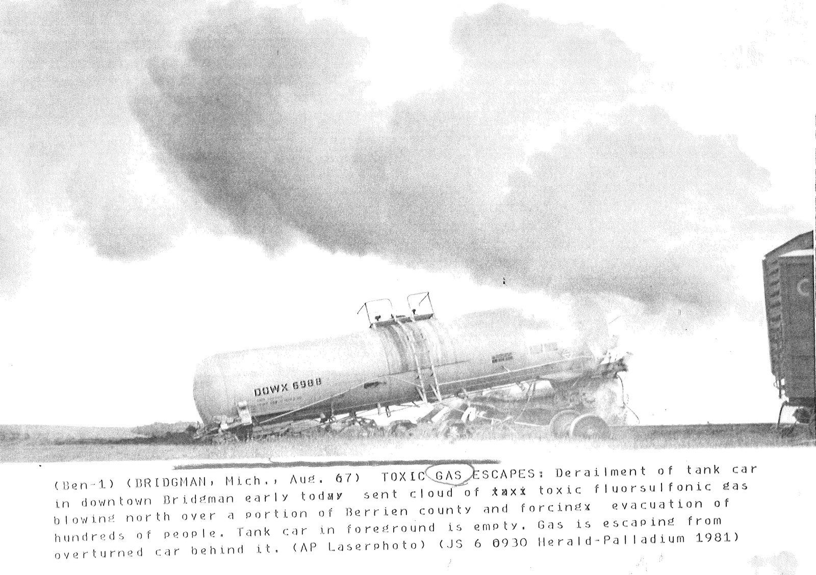 Bridgman Train Derailment 1981