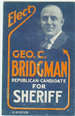 Election Poster for George C. Bridgman