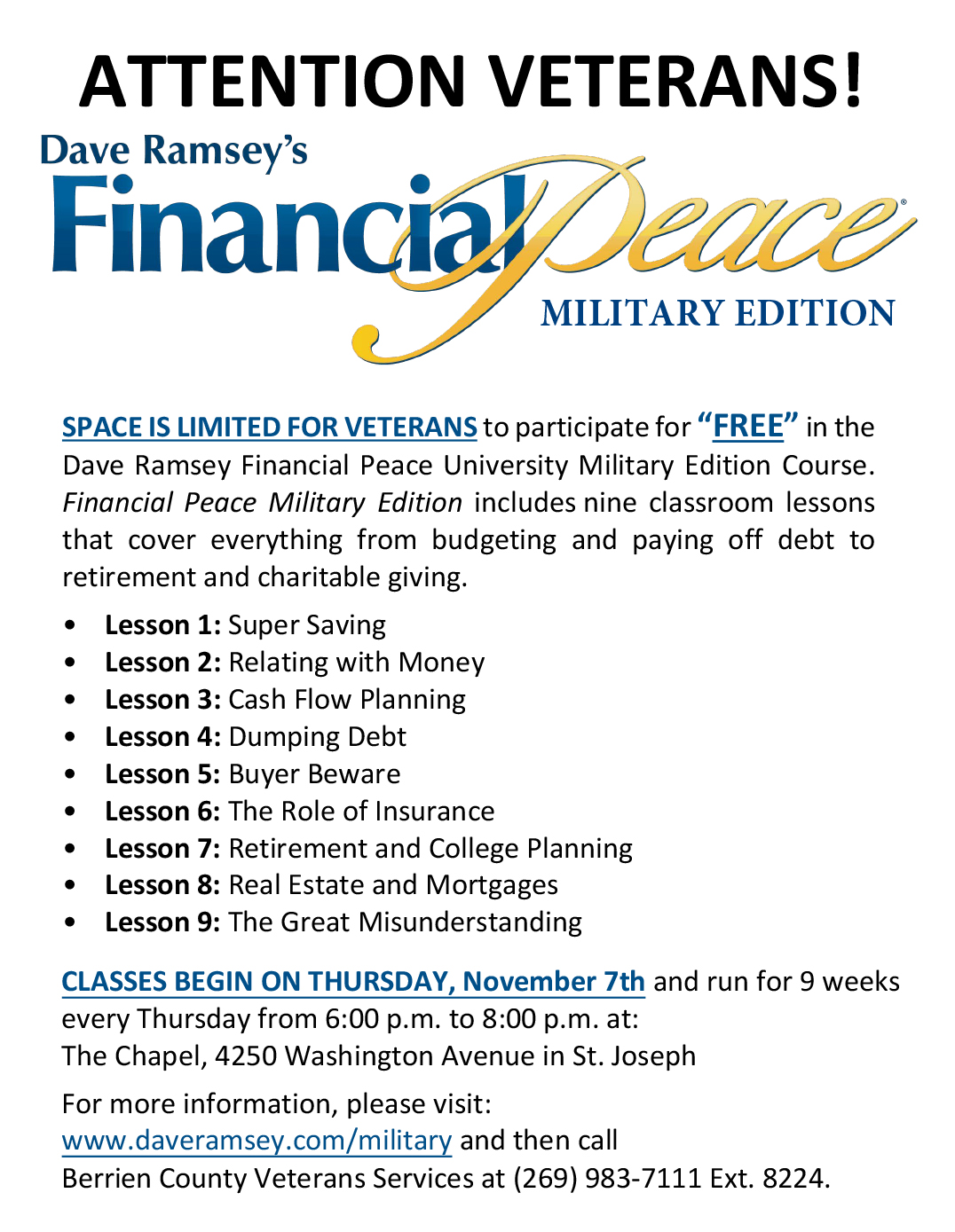 FPU Military Edition Flyer