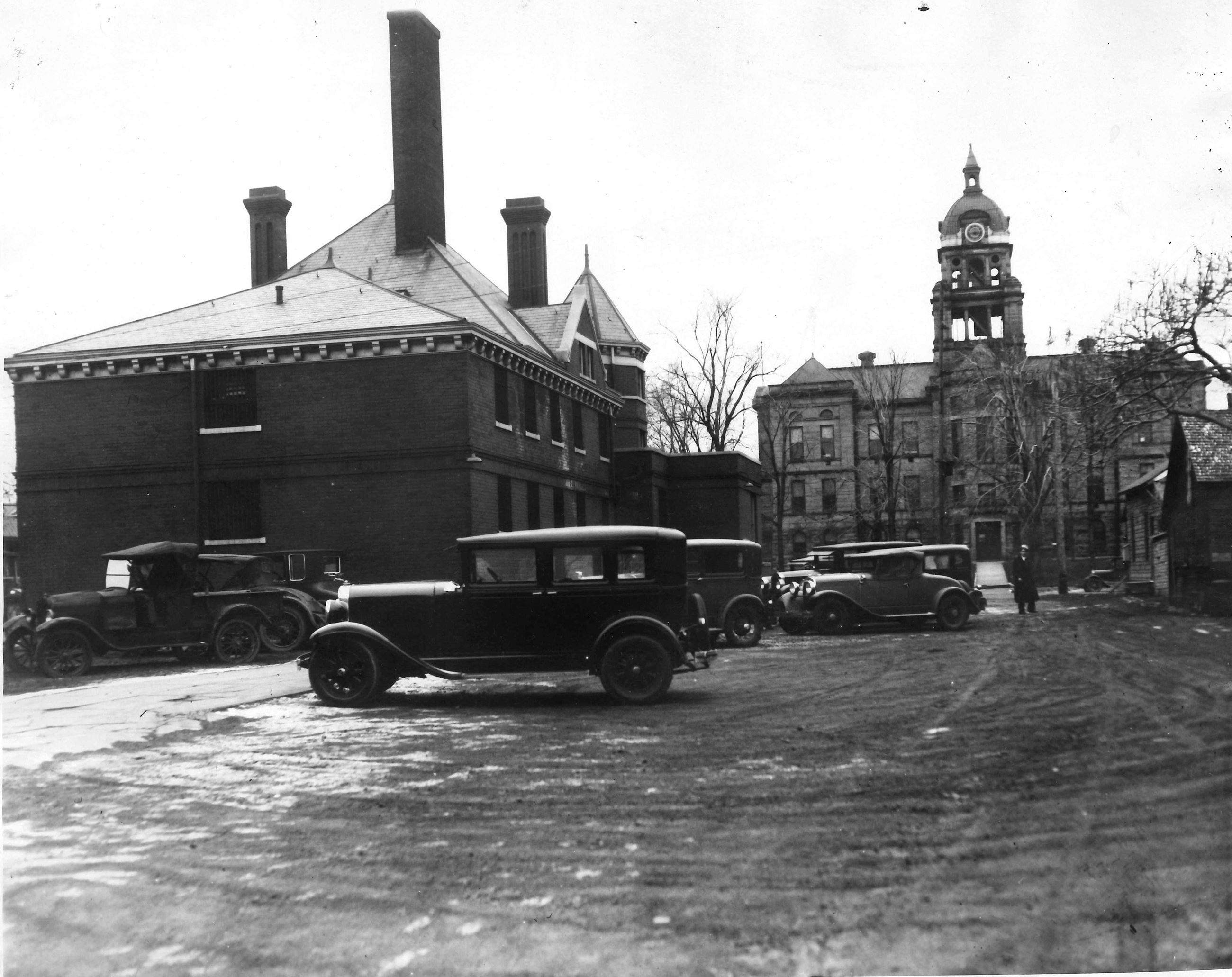 Behind Berrien County Jail, 1931