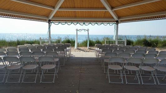 Dunes Pavilion 2 Fireworks Wedding Seating At